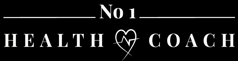 No1 Health Coach Logo white transparent